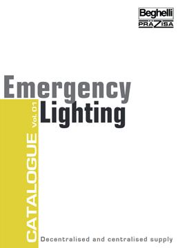 Каталог централни осветителни батерии Бегели